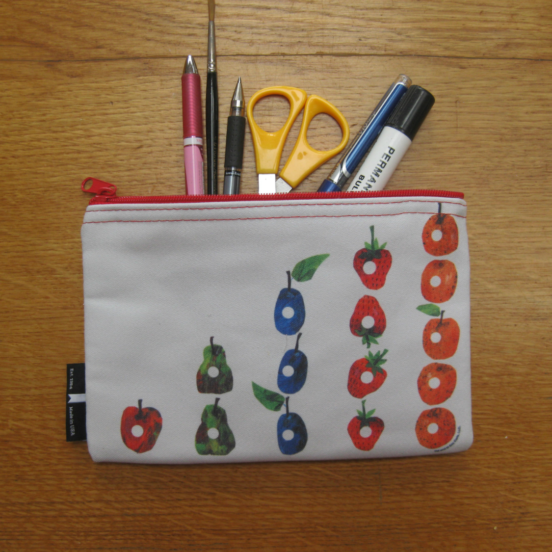 hungry caterpillar pencil case