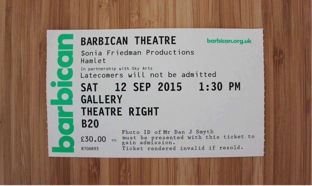 Ticket to see Barbican Hamlet