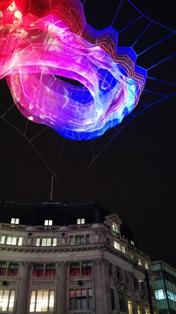 Lumiere London Oxford Street over buildings
