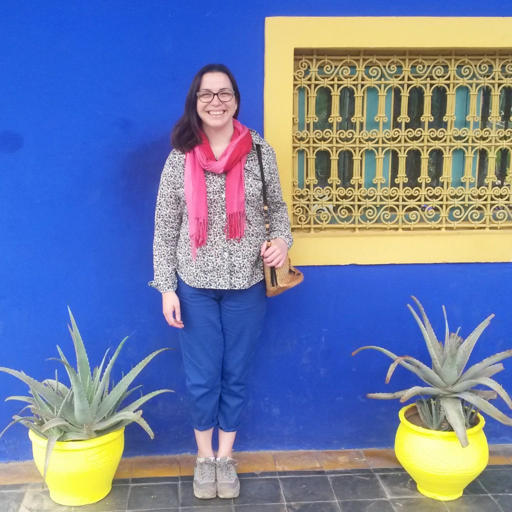 Jardin Majorelle Marrakech blue trousers