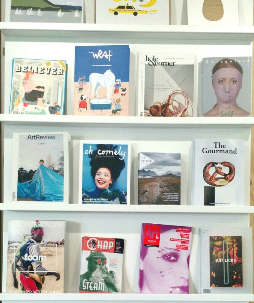 independent magazines at arts at the old fire station shop