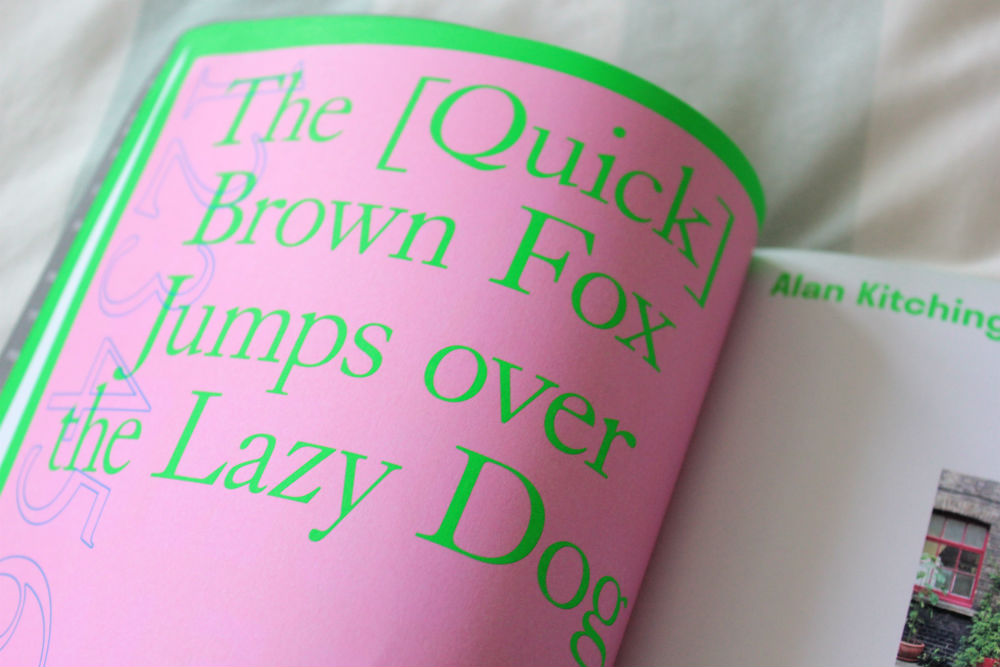 Print Isn't Dead The Quick Brown Fox print
