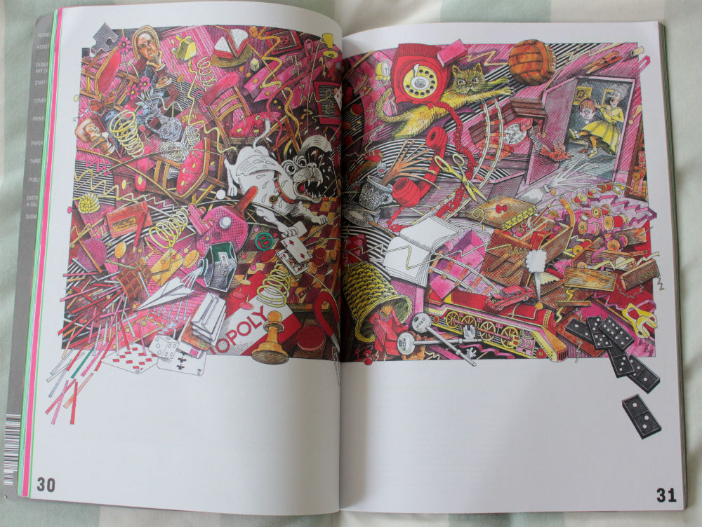 Print Isn't Dead cartoon spread element 004