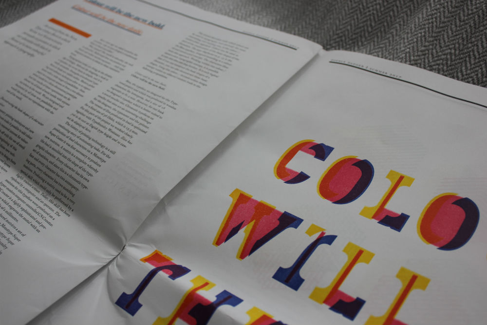 Colour will be the new bold double dagger