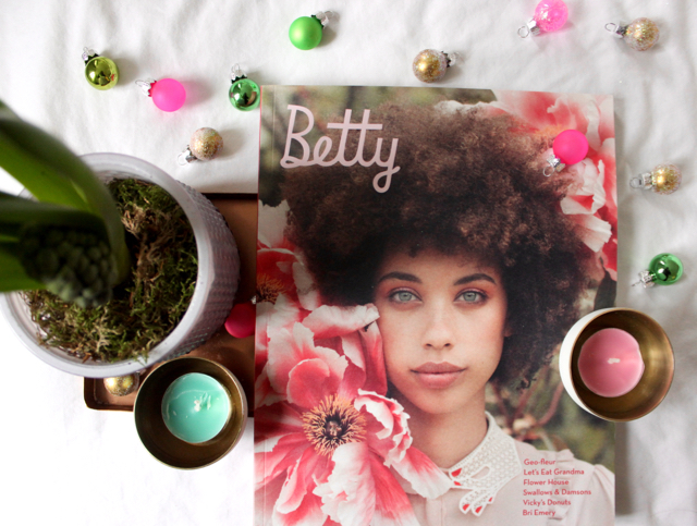 Betty Magazine Summer 2016 cover flatlay
