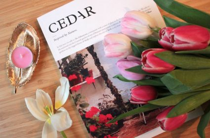 First issue cover of Cedar Magazine