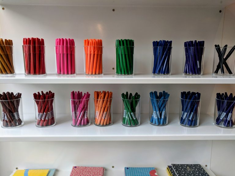 Papersmiths pens and pencils display