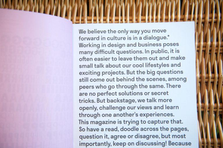 Editor letter Zusana Kvetkova in Backstage Talks issue 3
