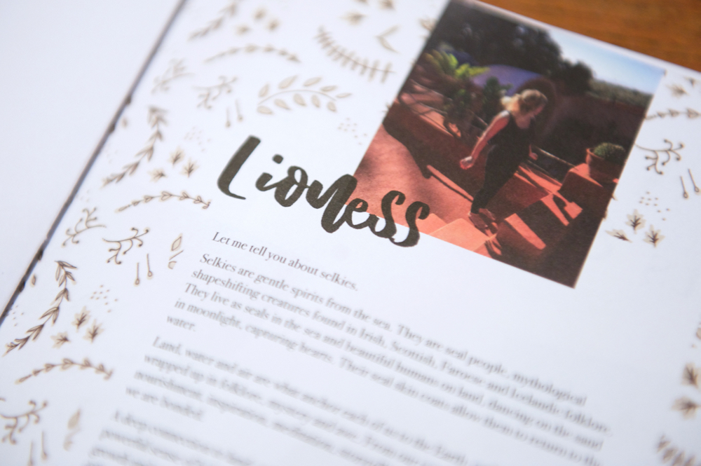 Lioness text in Lionheart magazine