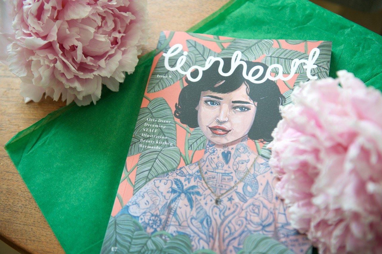 Cover flatlay of Lionheart Magazine