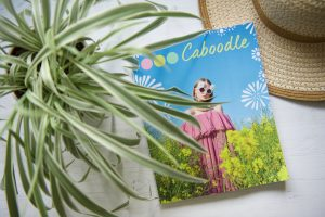 Caboodle Magazine flatlay of front cover with hat and spider plant