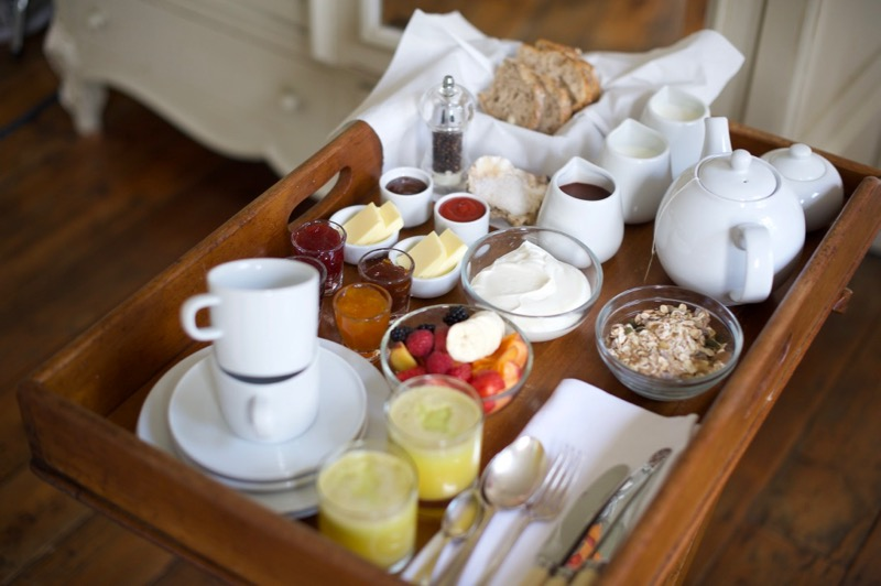 Breakfast tray at The Reading Rooms Margate