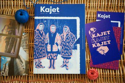Kajet Journal issue 1 magazine cover flat lay