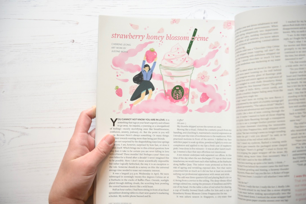Kyoto Journal issue 92 strawberry honey blossom creme