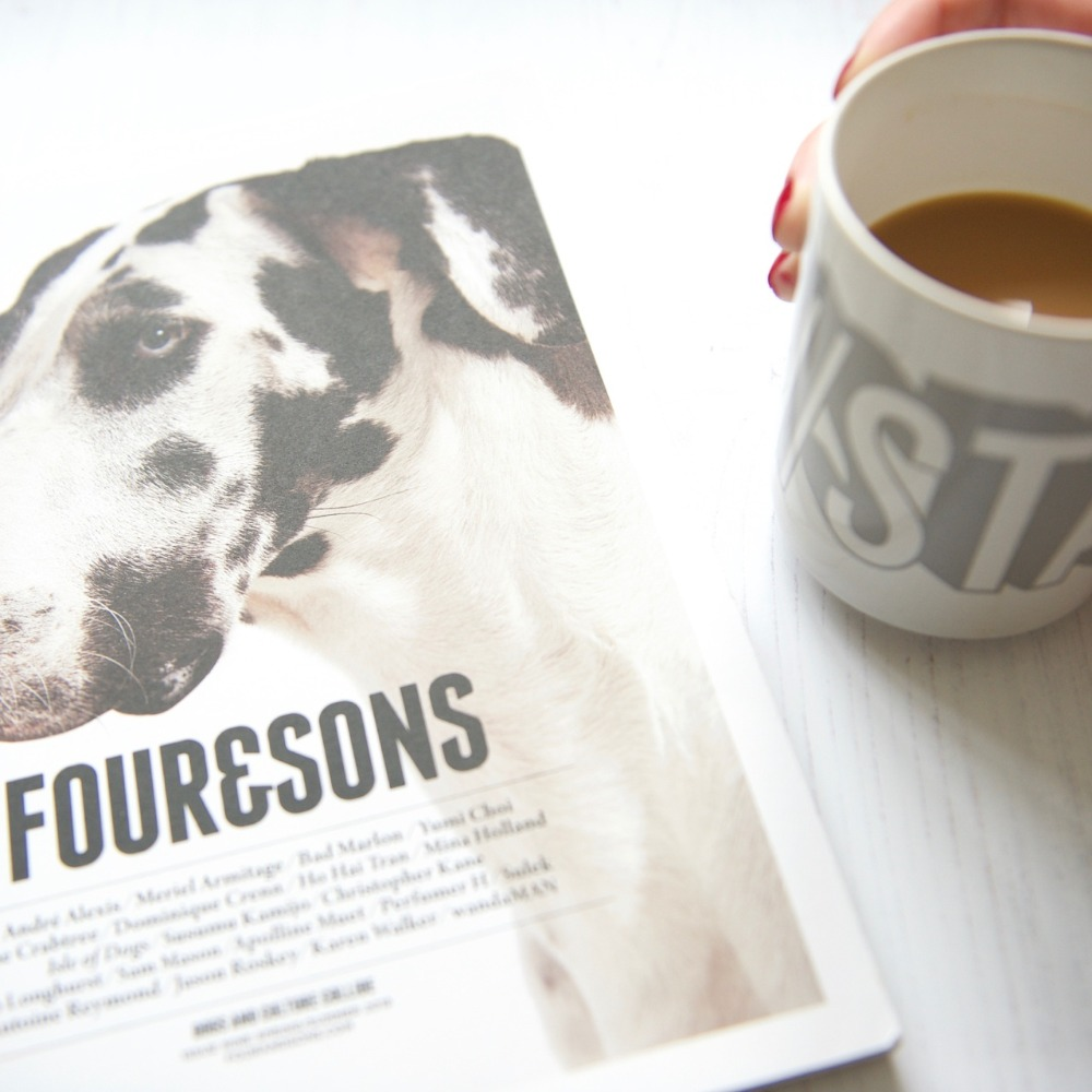 Four and Sons with Stack Magazines mug