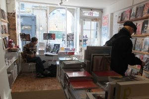 Inside Magalleria, Bath independent magazine shop