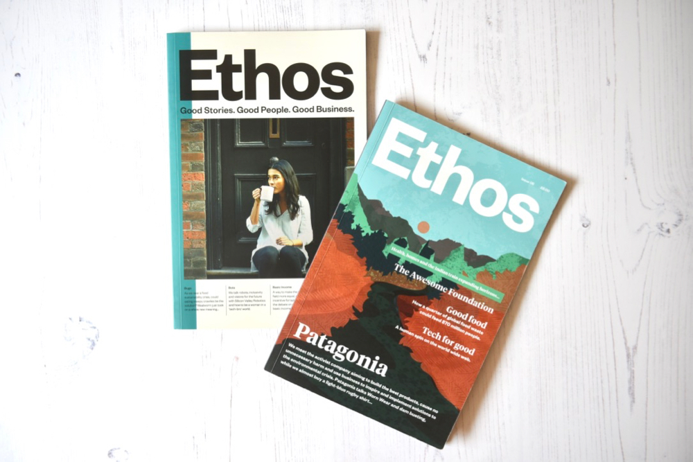 Ethos Magazine covers for issue 5 and issue 6