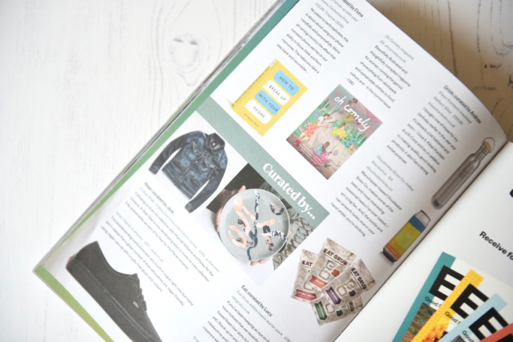 Ethos magazine curated by section