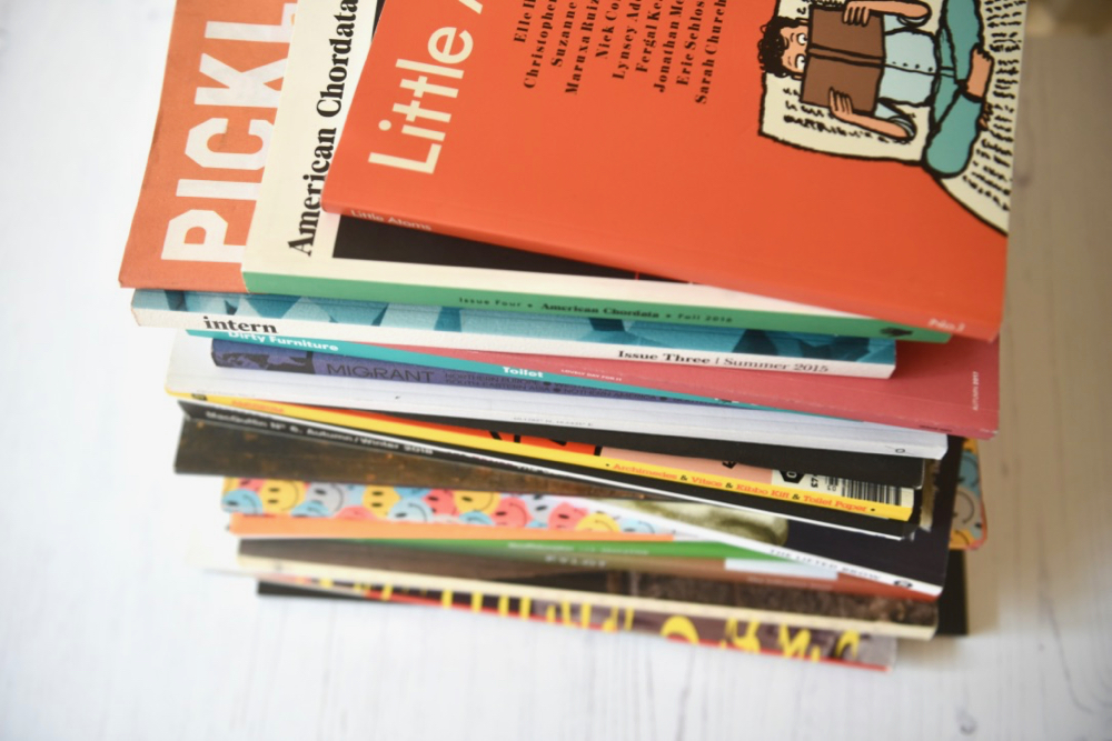 Stack of magazines Arts Bites