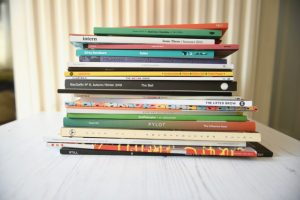 Stack of independent magazines to send to HYMAG / Hyman Archive