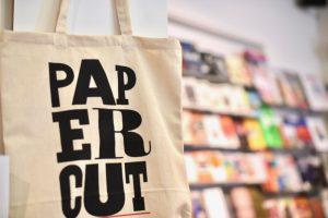 Papercut tote bag magazine shop Stockholm