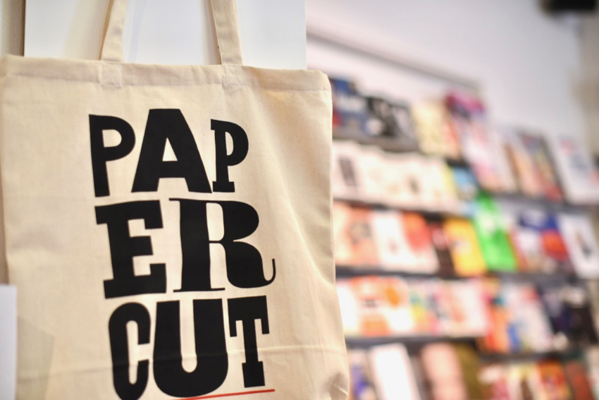 Papercut tote bag magazine shop Stockholm