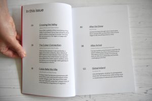 Point.51 magazine contents page issue one journey