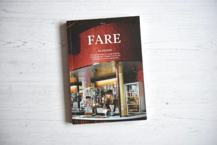 Fare magazine Glasgow issue front cover flatlay