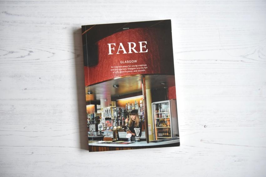 Fare magazine Glasgow issue front cover flatlay