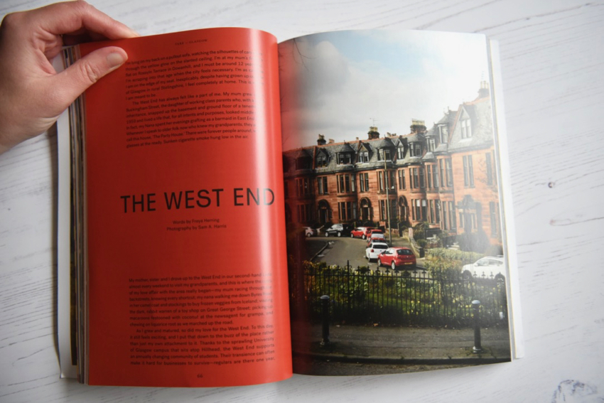 Fare magazine Glasgow issue sandstone tenements in the West End