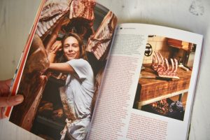 Sandwich magazine issue 1 BLT woman with butchered meat