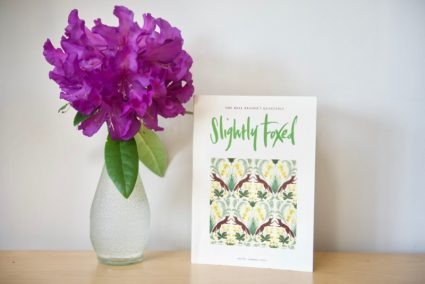 Slightly Foxed Issue 65 with rhododendron in vase
