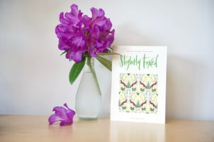 Slightly Foxed Issue 65 Cover with purple rhododendron in vase