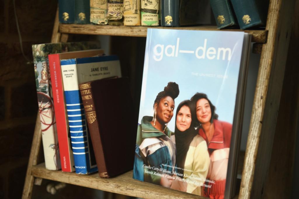 Gal-dem UN/REST magazine issue on bookshelf