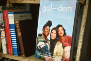 Gal-dem UN/REST magazine issue on bookshelf