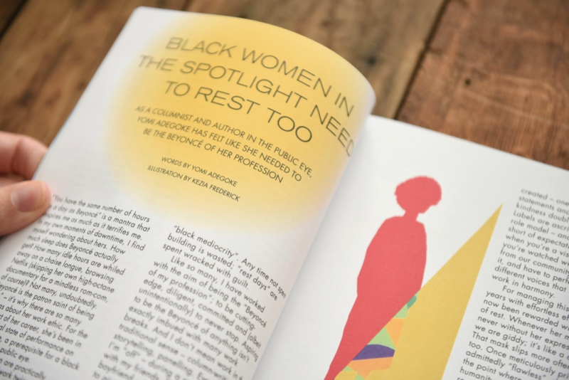 Gal-dem UN/REST magazine issue with title black women in the spotlight need to rest too