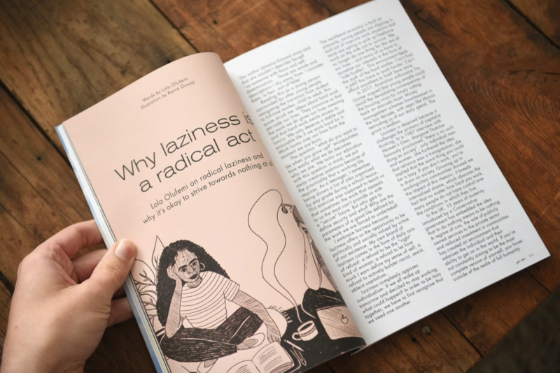 Gal-dem UN/REST magazine issue with title why laziness is a radical act