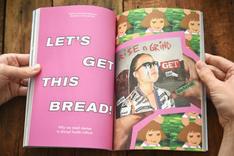 Gal-dem UN/REST magazine issue with title Let's Get This Bread