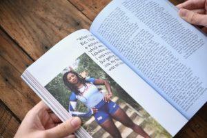 Gal-dem UN/REST magazine issue with photo of athlete Kadeena Cox