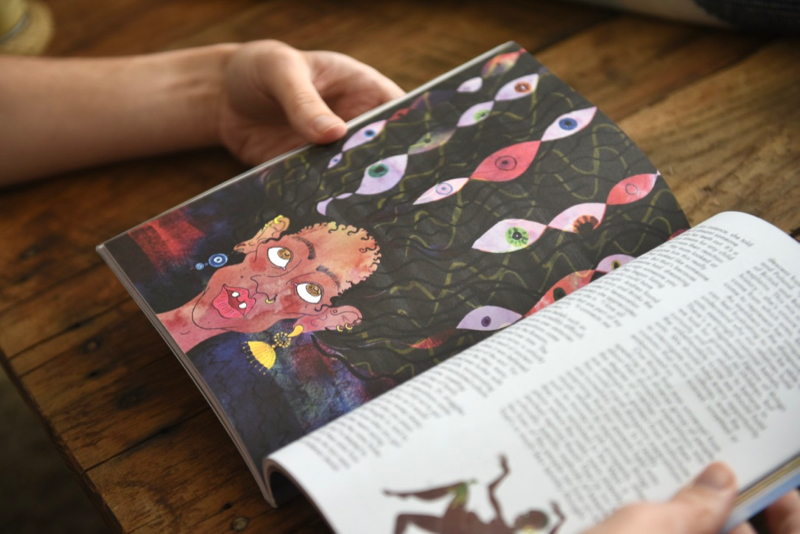 Gal-dem UN/REST magazine issue with illustrations from Tessie Orange-Turner