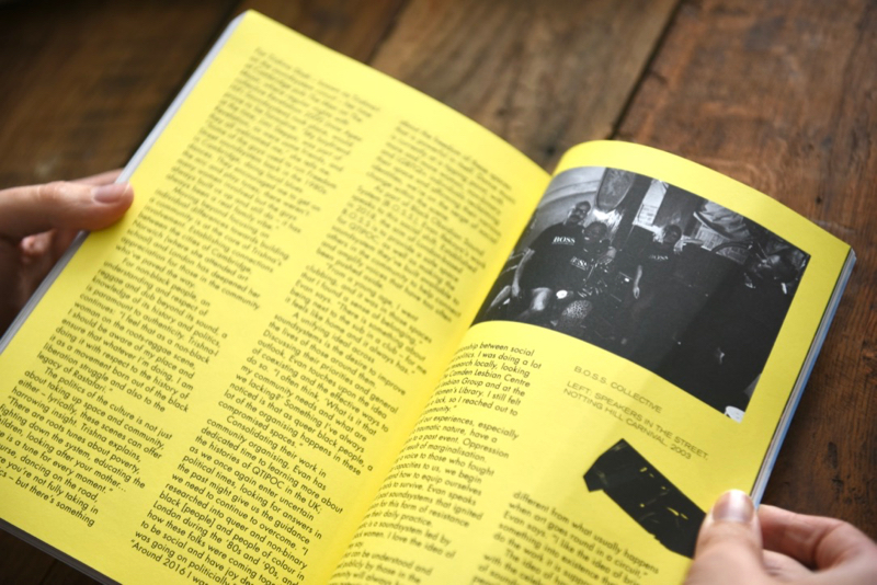 Gal-dem UN/REST magazine issue with text and images about Notting Hill Carnival